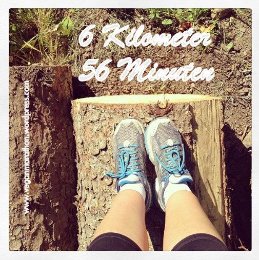 Heute 6 Kilometer geschafft!